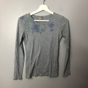 Lucy Gray Long Sleeve T Shirt Floral Sz S